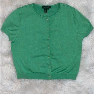 Ralph Lauren light green button down cardigan